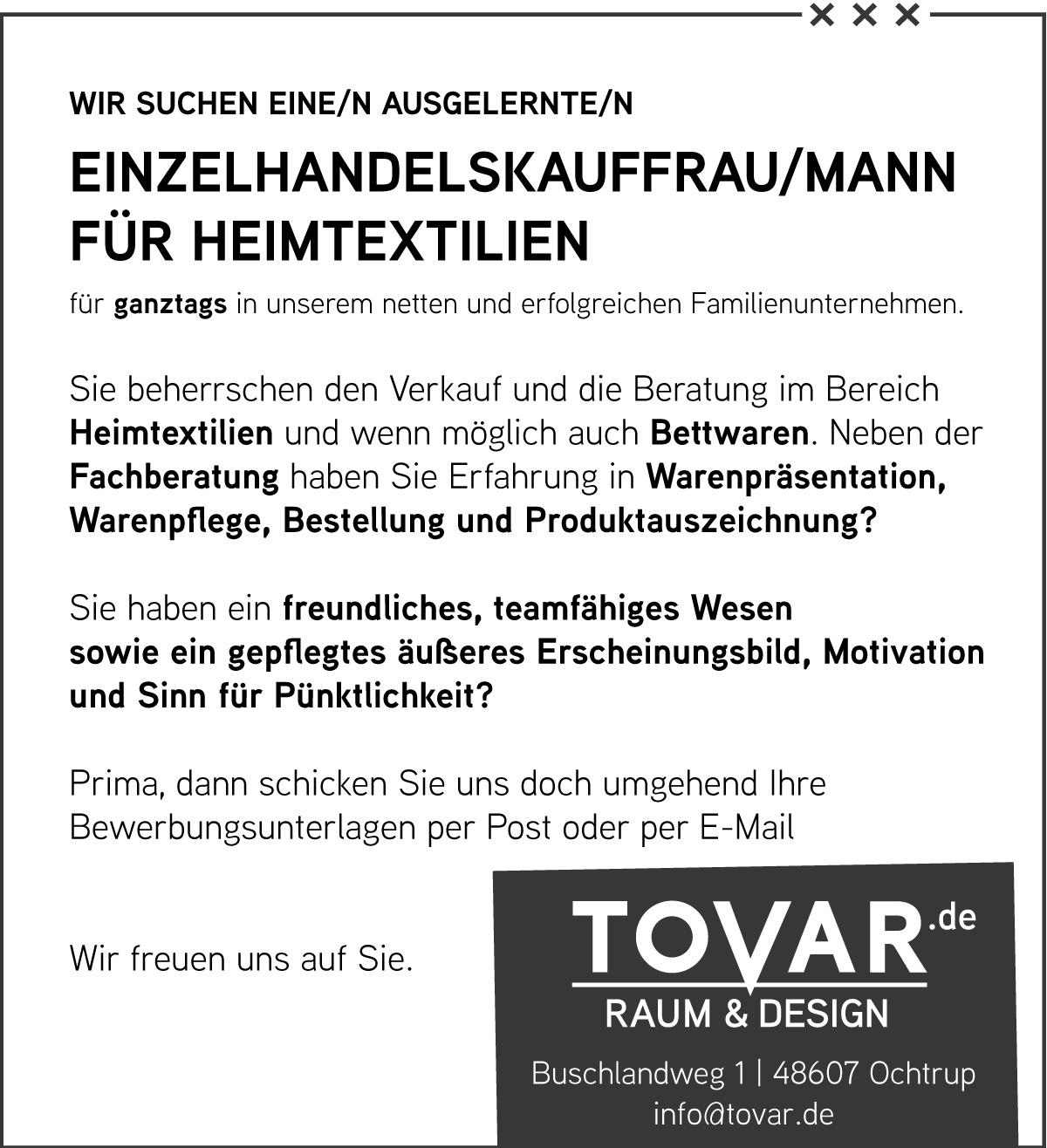 tovar_stellenanzeige_einzelhandelskauffrau
