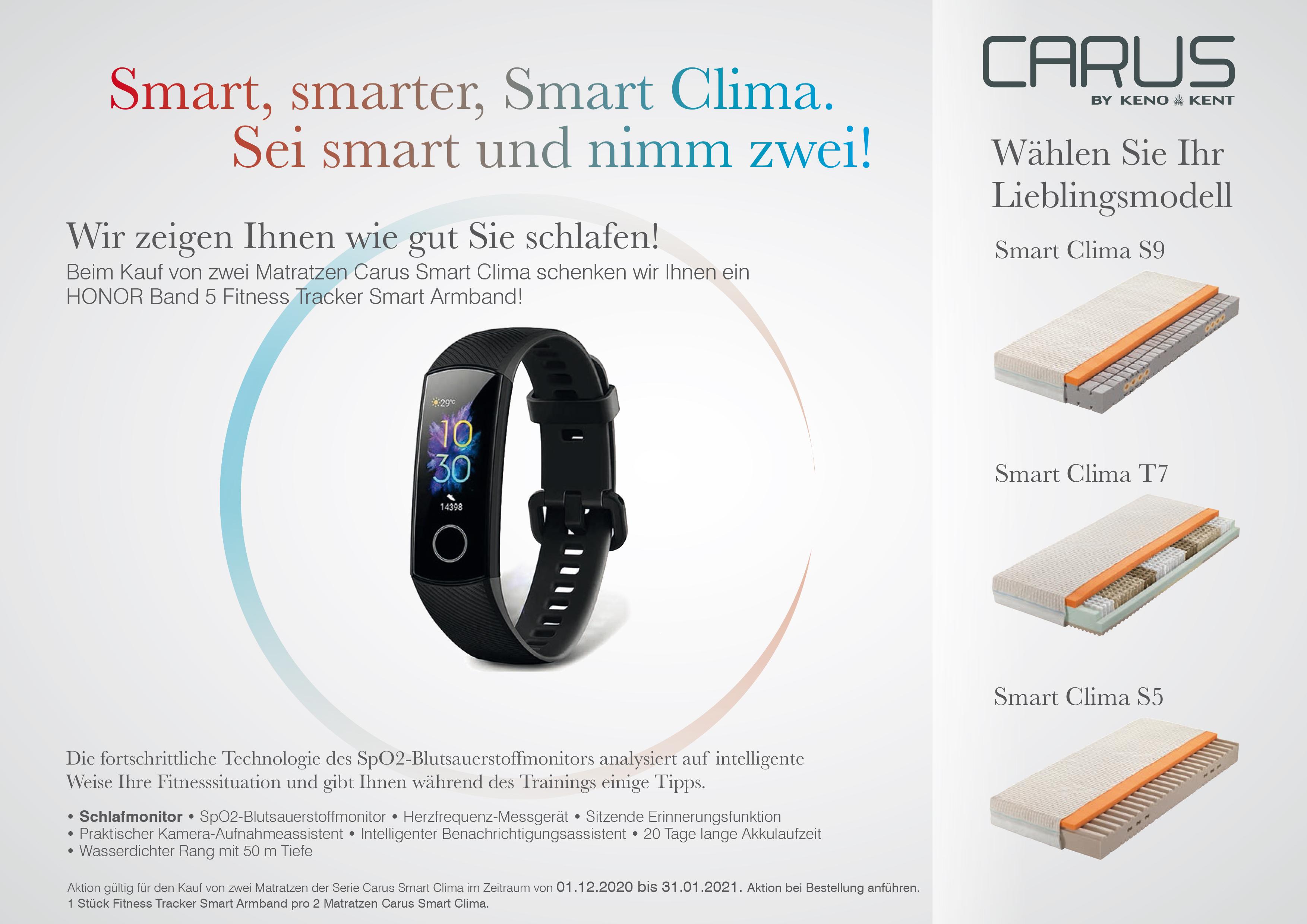 Infoblatt Carus Smart Clima Geschenkaktion 2020